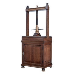Late 18th Century Oak Book Press on Cupboard