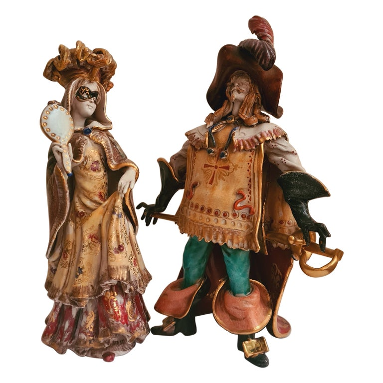 Vitange Italian Ceramic Sculptures Signed by Paolo Marioni For Sale