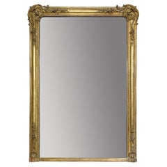 Early 19th Century French Mantle Mirror of Exceptional Proportions