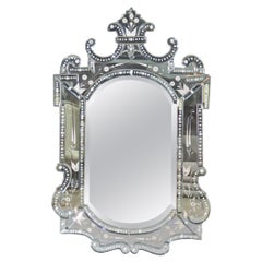 Etched Glass Italian Venetian Mirror