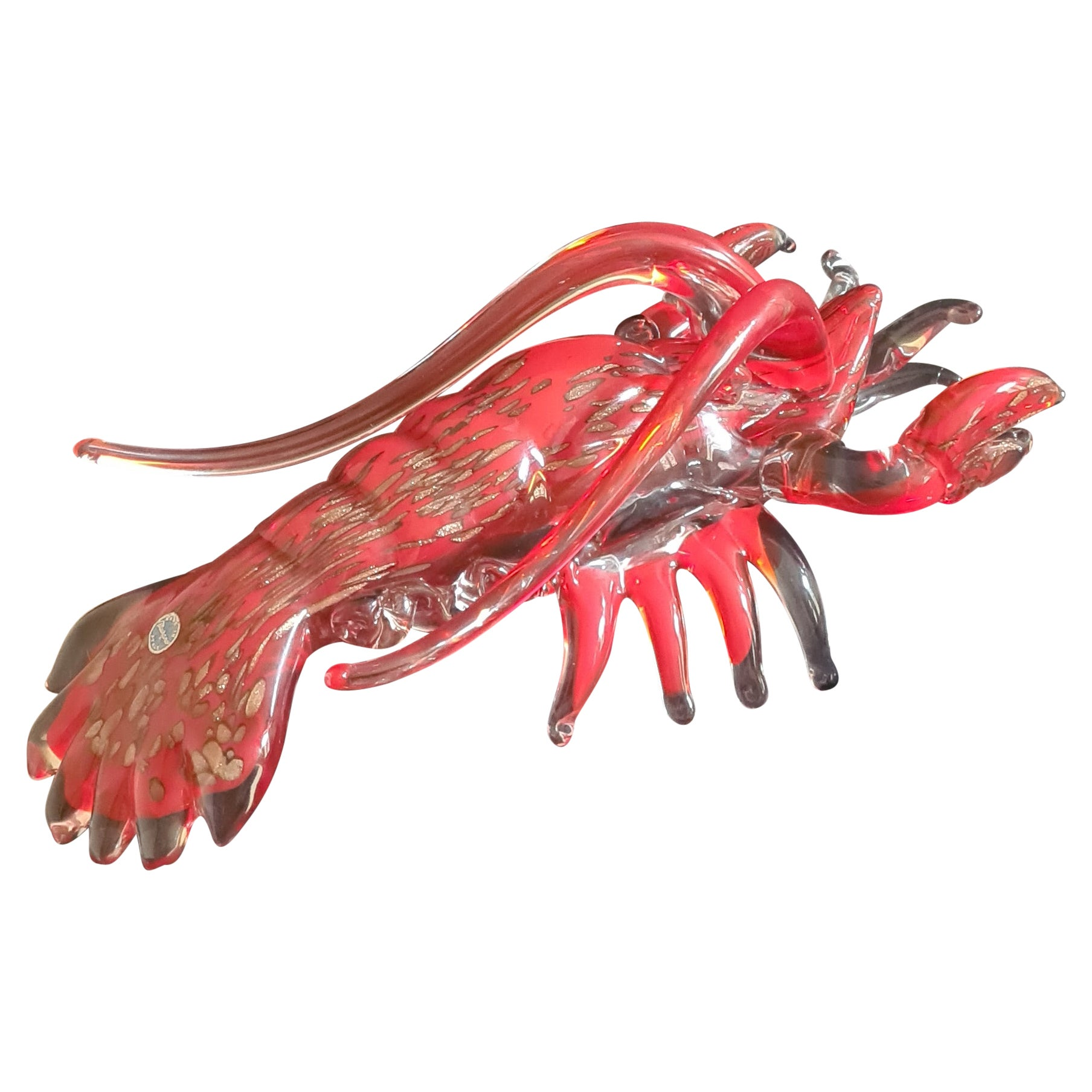 Murano Glass Sommerso Lobster