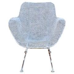Vtg Russell Woodard Sculptura Metal Wrought Iron Arm Chair Mid-Century Modern
