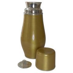 Important Sterling Silver & Guilloche Enamel Cocktail Shaker by David Andersen
