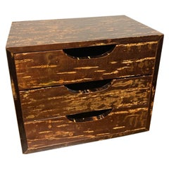 Japanese Lacquered Three Drawer Box