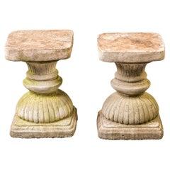 Pair Vintage Neoclassical Garden Pedestals