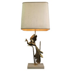 Peacock Table Lamp by Lanciotto for L'Originale, Italy, 1970s