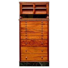 Early 20th C Tall Medical Cabinet with Drawers