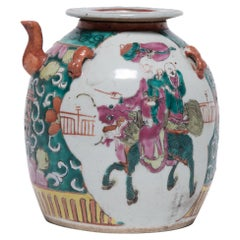 Chinese Enameled Teapot with Mythical Qilin, c. 1920s