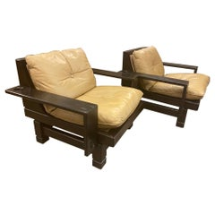 Mid Century Leather Chairs, 1960's