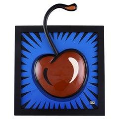 "Burton Morris for Goebel. Porcelain wall plaque,""Cherry"", 21st C"
