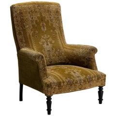 Velvet & Carpet Chair, France Circa 1880