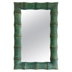 Bamboo Mirror, Italy, 1980s