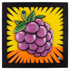 "Burton Morris for Goebel, Porcelain Wall Plaque, ""Raspberry"", 21st C"