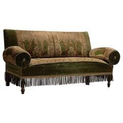 Velvet & Carpet Sofa, France Circa 1890