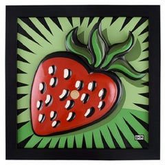 "Burton Morris for Goebel, Porcelain wall plaque, ""Strawberry"", 21st C"