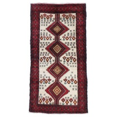 Vintage Persian Baluch Rug with Tribal Style