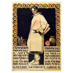 Original Vintage Poster Decorative & Industrial Arts Exhibition Brussels Belgium