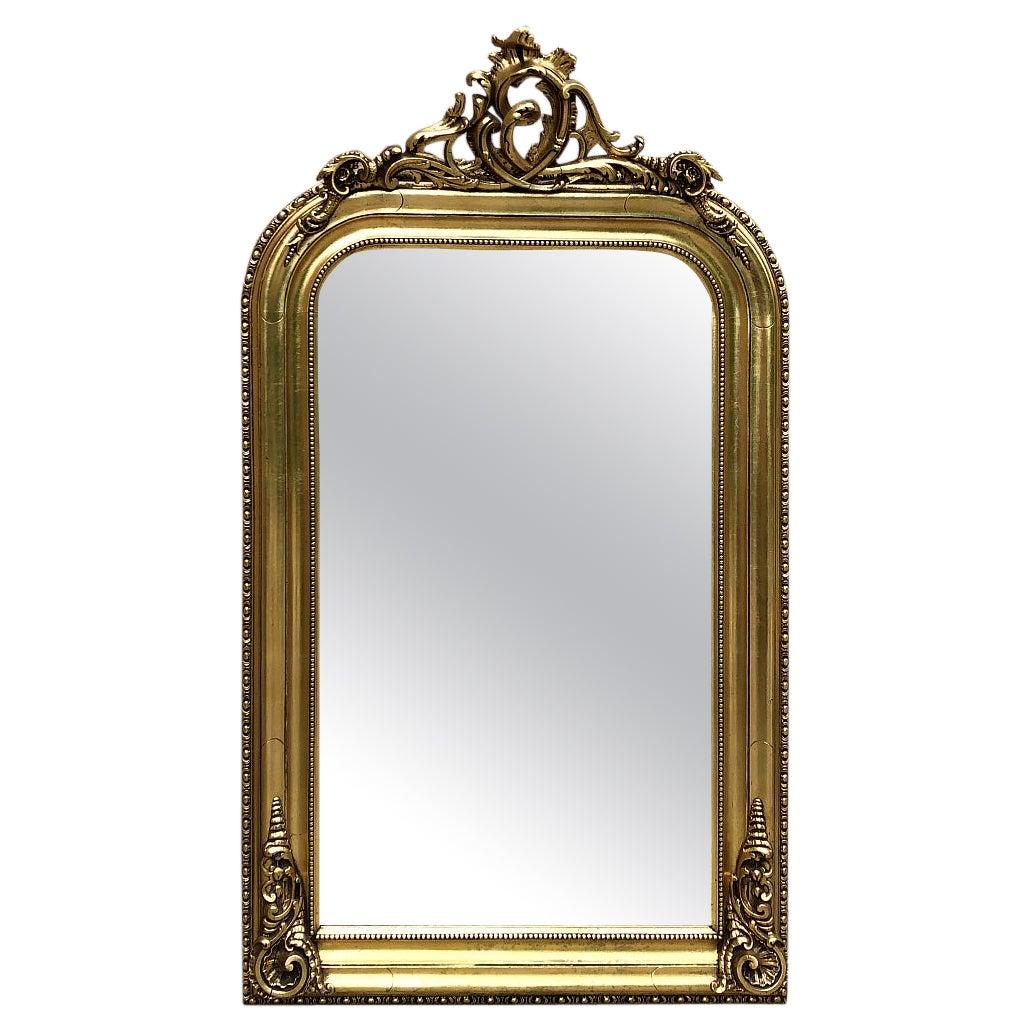 19th Century French Napoleon III Period Gilded Mirror