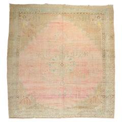Pink Turkish Anatolian Square Room Size Rug