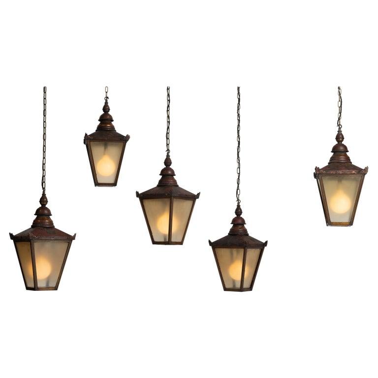 Copper Lanterns, England, circa 1890 For Sale