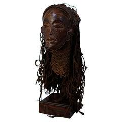 "Female Mask ""Pwo"" Chokwe, Angola / Democratic Republic of Congo, Museum Quality"