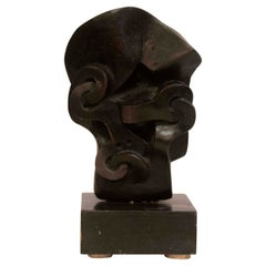 Mid Century Modern Sorel Etrog Signed Untitled Abstract Bronze Table Sculpture