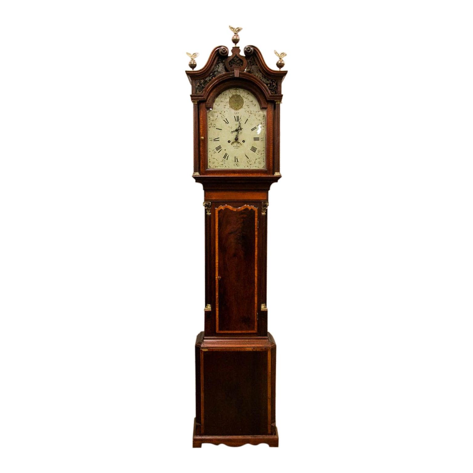 Inlaid Wellington Grandfather Clock