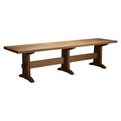 Oak Refectory Table, England, circa 1950