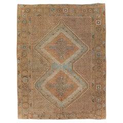 Mid-20th Century Handmade Persian Afshar Throw Rug