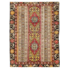 Early 20th Century Handmade Turkish Ghiordes Accent Rug