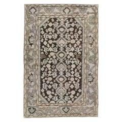 Mid-20th Century Handmade Persian Malayer Throw Rug