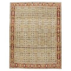 Early 20th Century Handmade Persian Senneh Malayer Throw Rug