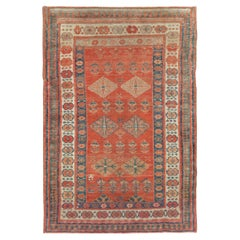 Early 20th Century Handmade Persian Bakshaish Throw Rug