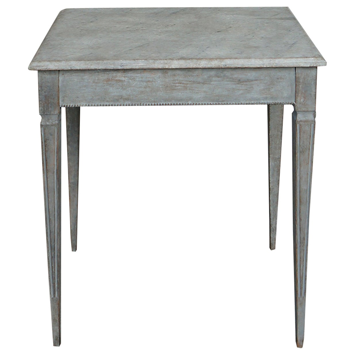 Side Table with Faux Marble Top