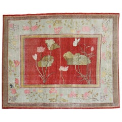 Floral Antique Khotan Early 20th Century Rug