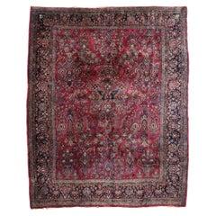 Antique Persian Mohajeran Sarouk Rug with Victorian Style