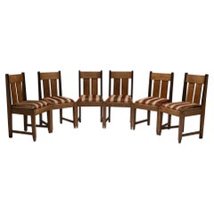 Set of '6' Art Deco Dining Chairs, Netherlands, Circa 1930