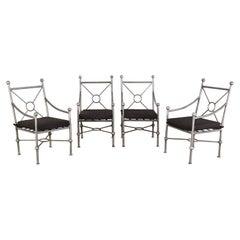 Set of Four Mario Papperzini for Salterini Style Garden Chairs