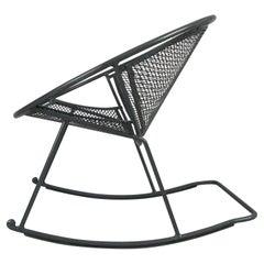 Rare Salterini 'Radar' Wrought Iron Rocking Chair