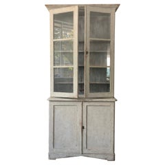 19th Century Swedish Cabinet with Glass Fronted Doors