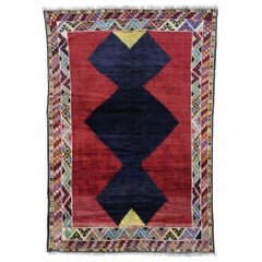 Vintage Persian Shiraz Rug with Mid-Century Modern Tribal Style