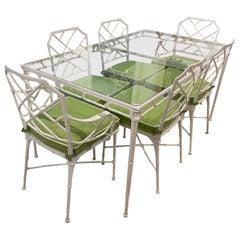 Brown Jordan Calcutta Dining Table & Chairs Patio Set New Upholstery Powdercoat