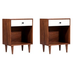 Milo Baughman Two-Tone Lacquered Night Stands for Glenn of California