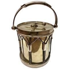 19th Century Victorian Silver Plate Drum Ice Bucket, Circa 1890