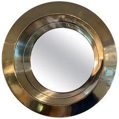 Curtis Jere Round Brass Mirror