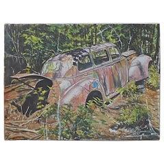 Old Packard on Canvas by Freddie Manseau 2017