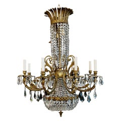 Beautiful and Rare 1940's Crystal Chandelier from Spain