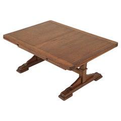 Antique Oak Reduced Refectory Coffee Table, Scotland 1930, B2734