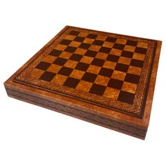 Vintage Leather Chess Board, Italy, 1960s