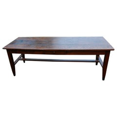 French Mid 19th Century Provincial Farmhouse Table in Oak and Chestnut